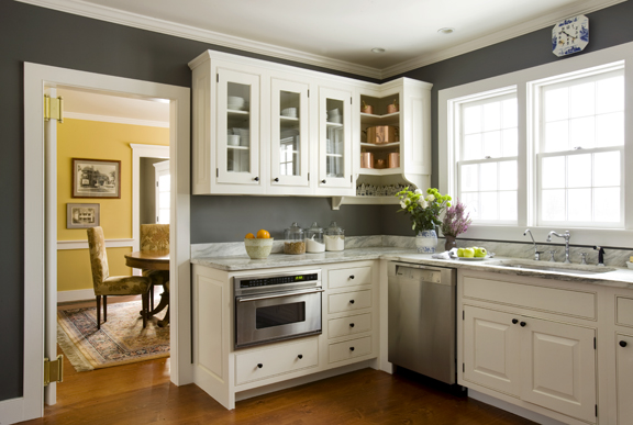 White And Grey Country Kitchen yellow and grey kitchen ideas