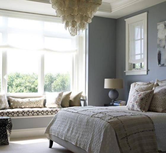 Peaceful Bedroom Decorating Ideas: Simple & Beautiful: Grey-White Color Combination
