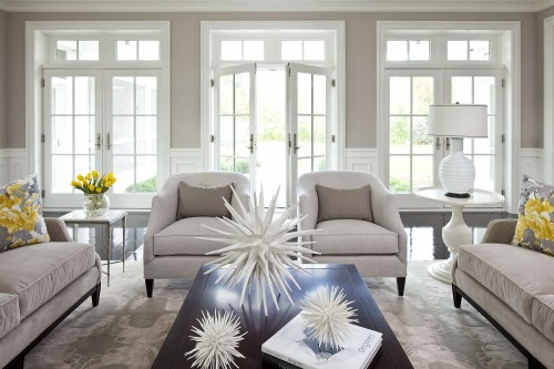 Grey White And Yellow Living Room simple & beautiful: grey-white color combination | a perspective
