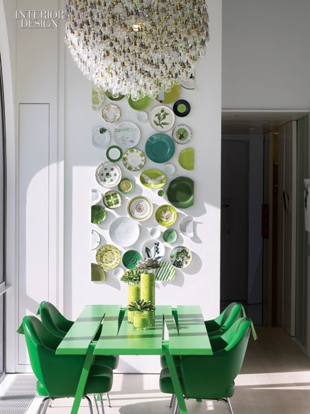 Emerald green a perspective of design - Green white interior design ...